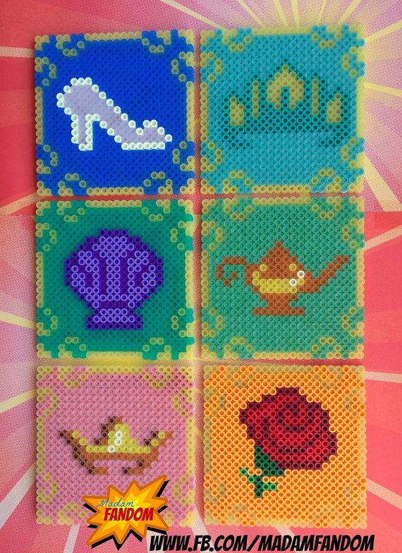 17 best images about perler bead art perler bead disney princess coasters carriage display box perler beads by madamfandom