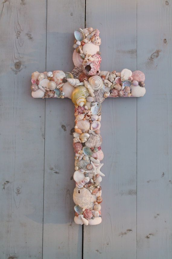 228 best images about angels and crosses on pinterest for Shell art and craft