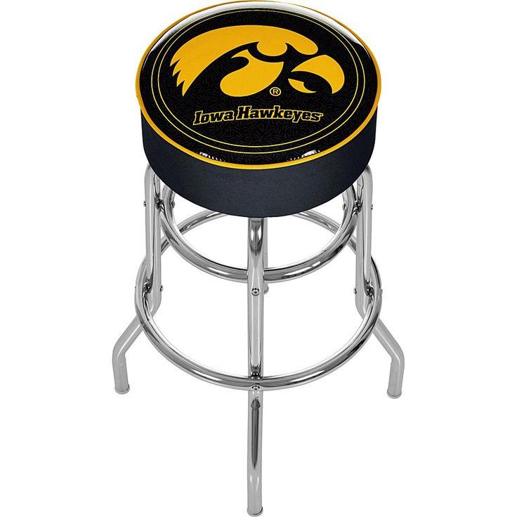 Football Fan Shop University of Iowa Padded Bar Stool