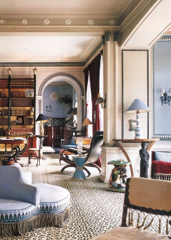 The main salon at Leves, Madeleine Castaign's country home.
