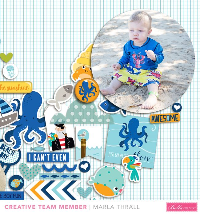 Bella Blvd | Secrets of the Sea | Layout by Marla Thrall