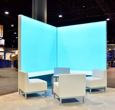 Need meeting space in your next trade show booth? Check out this new option in light boxes.