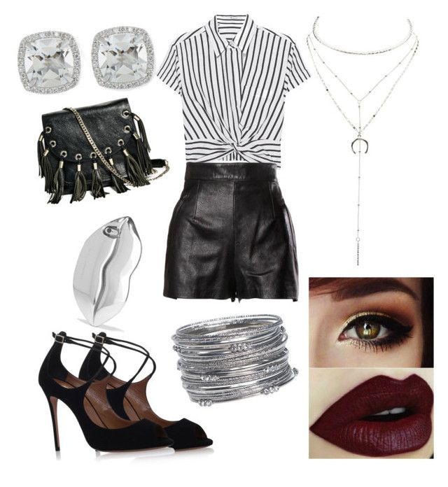 """""""lines"""" by lucidnightmare on Polyvore featuring T By Alexander Wang, Moschino, Aquazzura, GUESS by Marciano, Charlotte Russe, Frederic Sage, Avenue and STELLA McCARTNEY"""