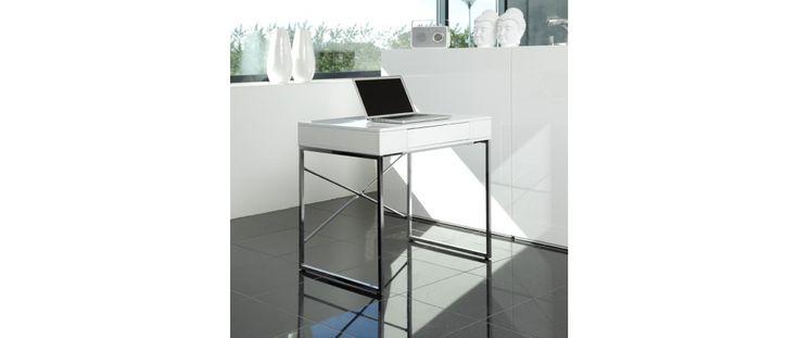 Bureau design blanc laqué ASTURIAS - Miliboo