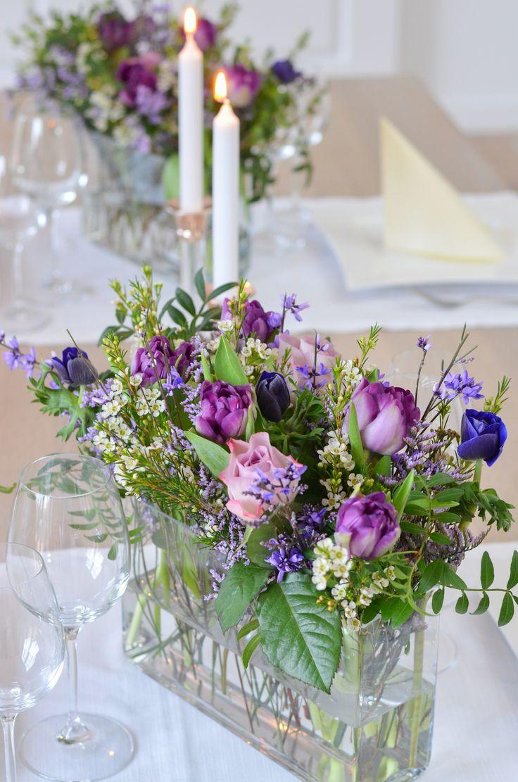 Maak een tafeldecoratie in Ultra Violet – DIY-instructies. Een eenvoudig tafelkleed  – Hochzeit – Violett
