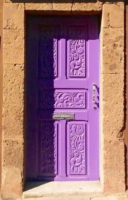 Bellasecretgarden — Purple door, San Miguel de Allende, Guanajuato,...