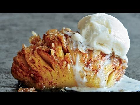 Hasselback Baked Apples | Wow! | Cooking Light.  I'd top with coconut whipped cream,