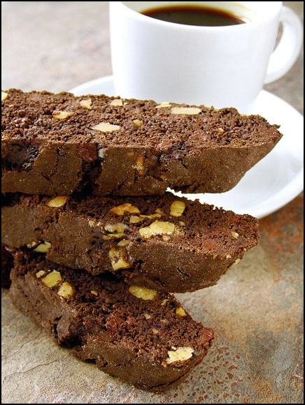 Dark Chocolate Walnut Biscotti Reduce sugar by 2 tablespoons.