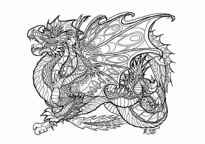 Hard Dragon Coloring Pages Dragon Coloring Page Coloring Pages For Kids Coloring Pages