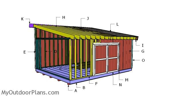 16x20 Lean To Shed Plans Myoutdoorplans Free Woodworking Plans And Projects Diy Shed Wooden Playhouse Pergola Bb Shed Plans Lean To Shed Diy Shed Plans