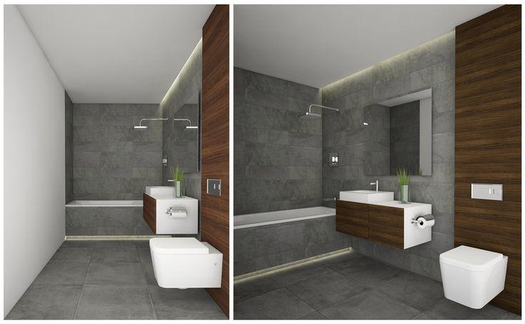 Moderni vonia šiolaikiškiems klientams. #apdailosnamai #modern #bathroom #dark #wood #minimal #interior #design #arpa #stage #anthracite #grey #trends
