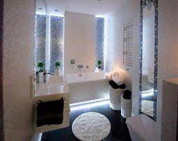 I LOVE WHITE - Mała łazienka - zdjęcie od LOFT ART Izabela Balbus