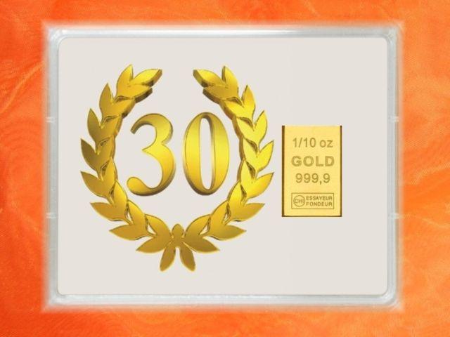 3,1g Gold zum 30.Geburtstag