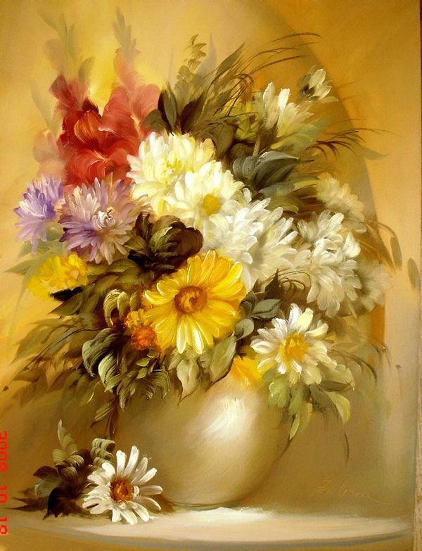 825 best Painting. Flower images on Pinterest | Art flowers, Wine ...