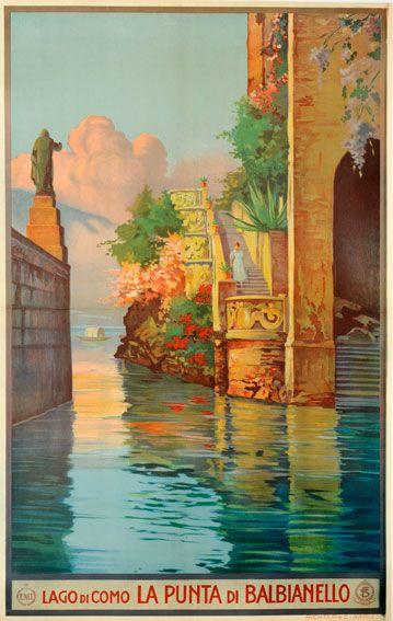 """Lake Como Balbienello"" Metlicovitz - c1930 ¡¡¡¡¡¡¡......http://www.pinterest.com/beeegiii/travel-inspirations/ €¬€¬€¬€¬€¬€¬€¬€¬?¿?¿?¿?"