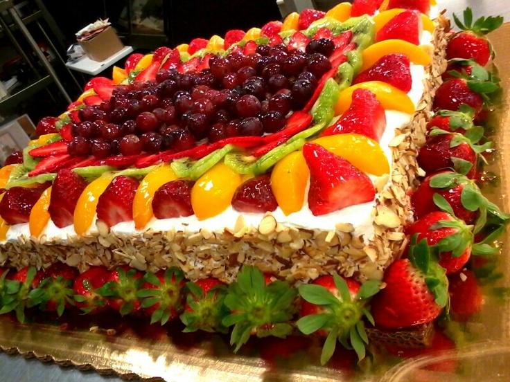 Strawberry and peach sensation cake recipe