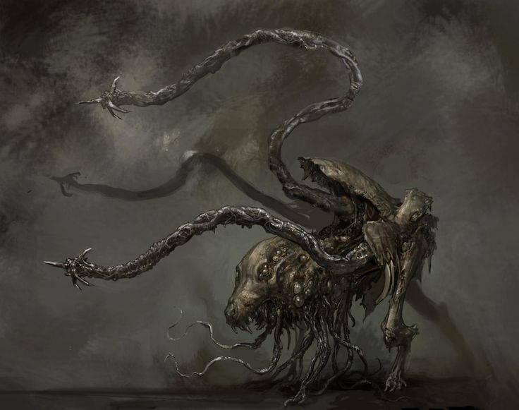 Arte concepto de enemigo en Dead Space 3 / Concept Art of enemy in Dead Space 3