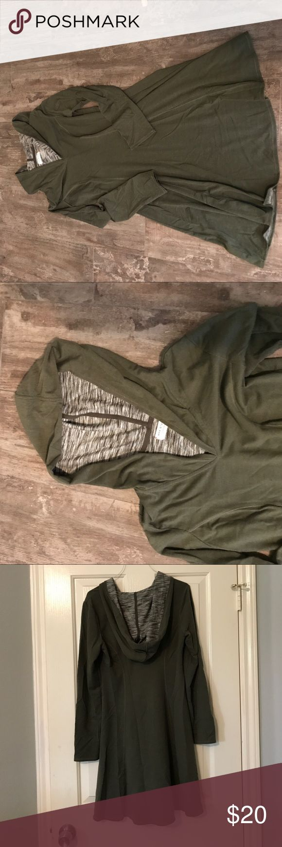 Max studio weekend dress with hood Super comfy and cozy green dress with hood.  Used but good condition.  Non smoking home. Max Studio Dresses