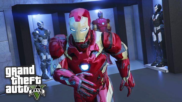 GTA 5 Mods - IRON MAN/TONY STARK'S MANSION MOD!! GTA 5 Iron Man Mod Game...