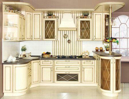 цвет слоновой кости кухни фото