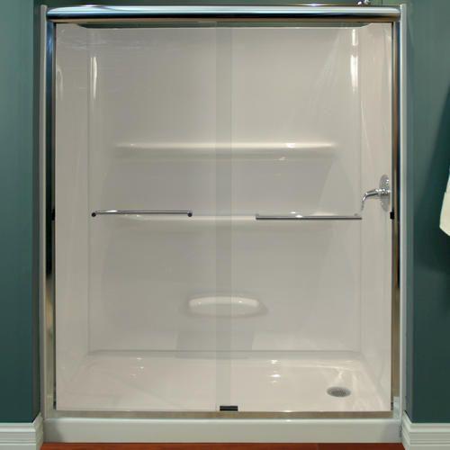 59 Quot W X 68 Quot H Glass Shower Door At Menards Bathroom