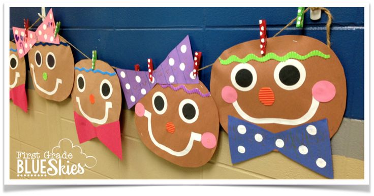 Gingerbread Man Craft, Close Read, and Writing