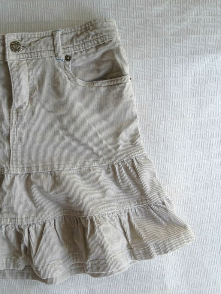 Girls Roxy Girl Cream Courdory Cotton Ruffle Skirt - Size 10  Now Selling! Click through to go to eBay auction.