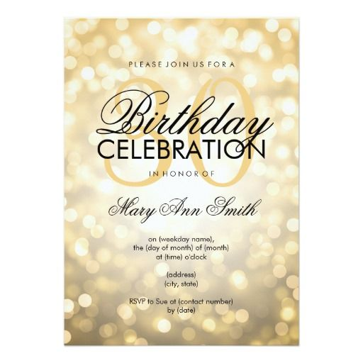 Best 400 glitter birthday party invitations images on pinterest elegant 30th birthday party gold glitter lights 5x7 paper invitation card filmwisefo