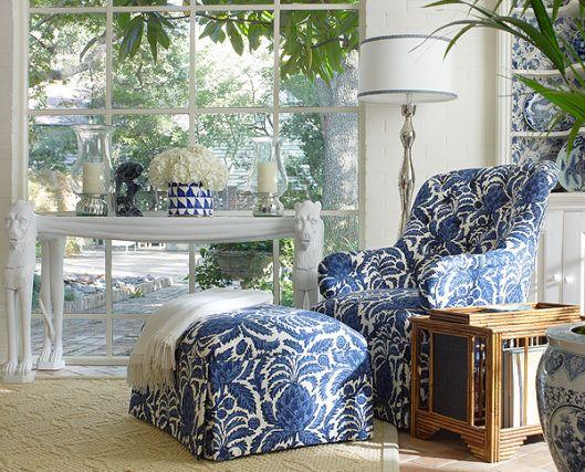 .Blue & White Chair