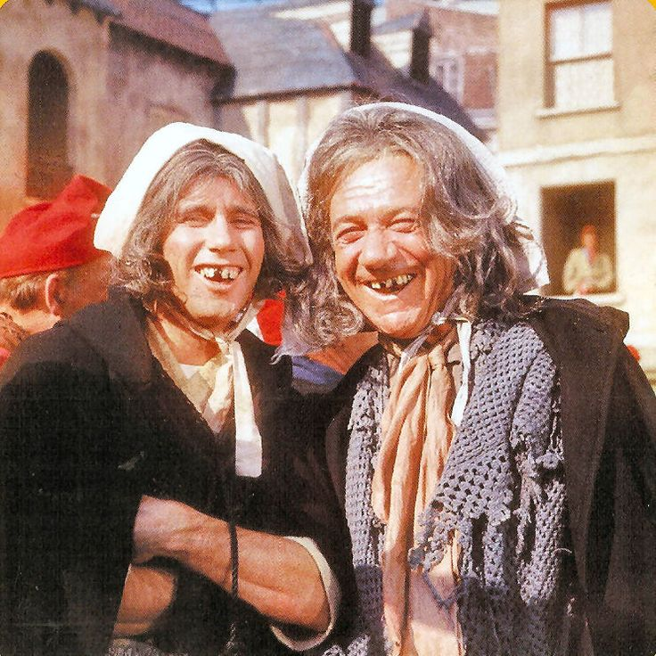 Jim Dale & Sid James on the set of Don`t Lose Your Head