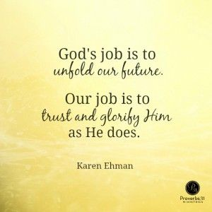"""""""Let's stop asking God to spiritually skywrite all the answers and let's write His promises on our hearts instead."""" ~ Karen Ehman   Proverbs 31 Devotion   Psalm 106:12-13 #LetItGoBook"""