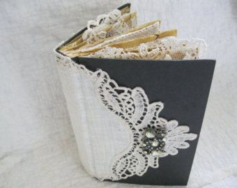 Lace and Photos Altered Book, Lace, Doily, and Photo Album, Shabby Chic Altered Book, Cottage Chic Book,Vintage Altered Book, Vintage Gift