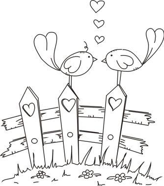 Freebie: Digital Love Birds Stamp – Stamping