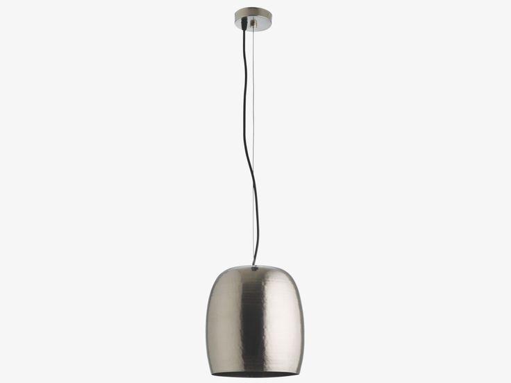 MARTEAU SILVER Metal Mini pewter metal ceiling light - HabitatUK