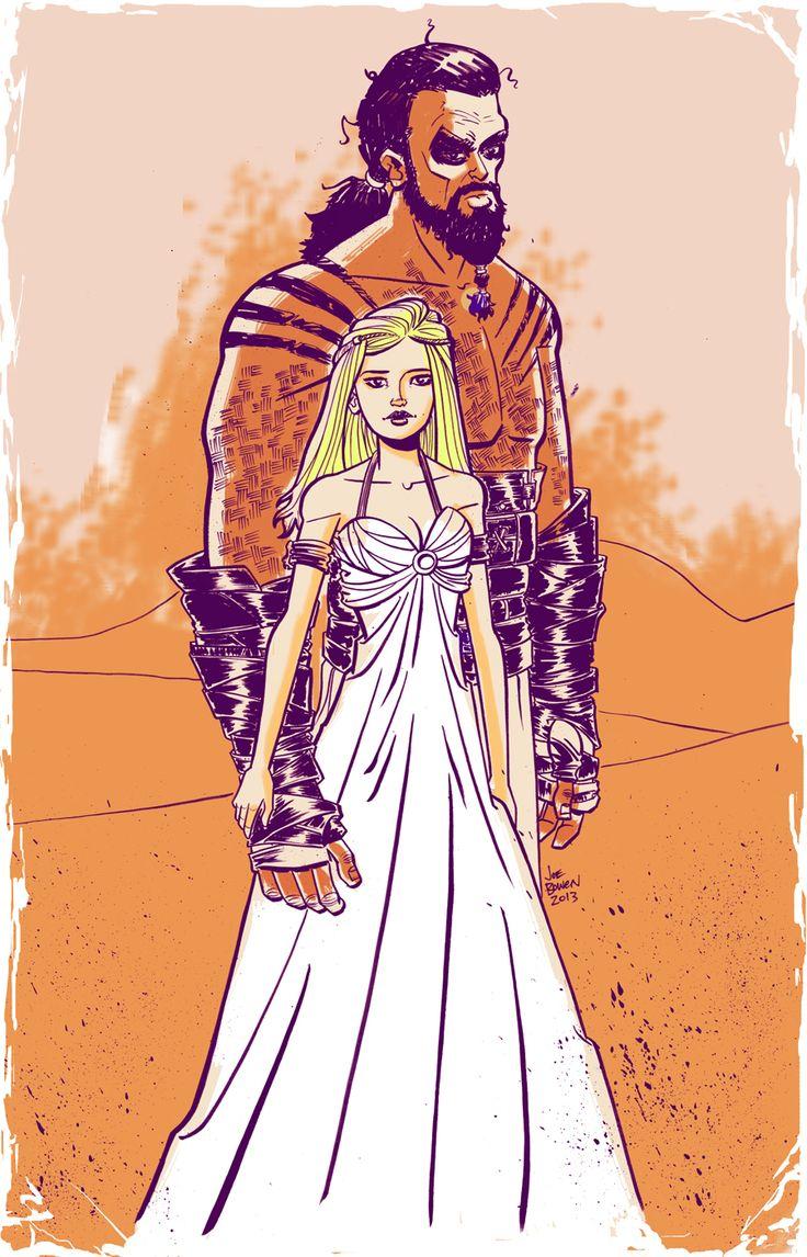 Daenerys targaryen and khal drogo wallpaper daenerys targaryen wedding - Find This Pin And More On Daenerys Drogo