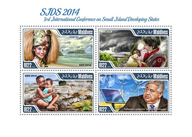 Post stamp Maldives MLD 14701 a SIDS 2014 Third International Conference on small Island Developing States (Tuilaepa Lupesoliai Sailele Malielegaoi)