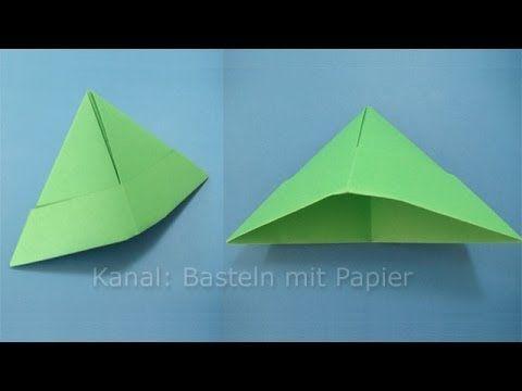 Papierhut falten - Hut basteln mit Papier - Origami Basteln mit Kindern