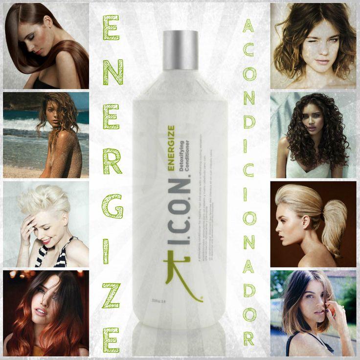 Buenas tardes amigas!! Hoy os hablamos del #acondicionador #Energize! Energize de #Icon es un acondicionador perteneciente a la línea #DETOX (desintoxicante).  Gracias a sus vitaminas y antioxidantes y a ingredientes como el aceite de árbol de té, el aceite de aguacate y la menta piperita, Energize desenreda nuestro cabello aportando suavidad y ligereza además de limpiar en profundidad y purificar nuestro cabello. Es ideal para el pelo graso, #revitalizándolo