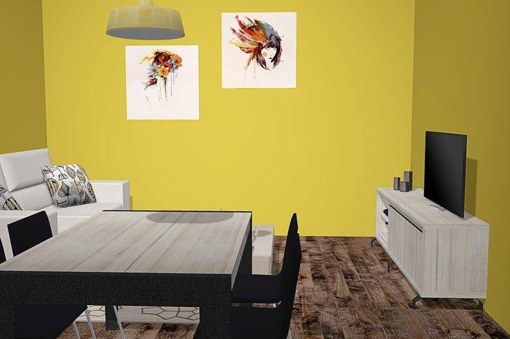 Mueble tv moderno para un sal n comedor diferente for Mueble moderno salon