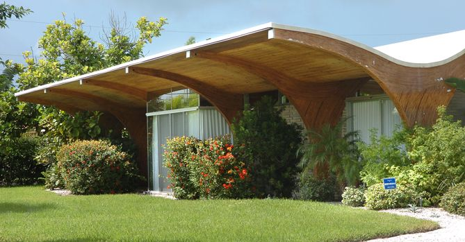 The Herron House, designed by architect Victor Lundy in 1957