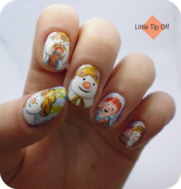 Little Tip Off | UK Nail Art Blog: Christmas Nail Art: Raymond Briggs' The Snowman