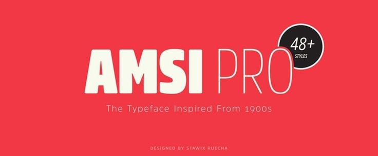 """Typeface name: Amsi Pro Year created: 2015 Foundry/Designer: Stawix/Stawix Ruecha Country: Thailand Style: San serif  Comments: Amsi brings the classic 1900s Block Berthold typeface into the present by utilizing the subtle corner rounding of typefaces like Neo Sans, and adding three separate weights ranging from very thin to very thick.  In drawing on so many fonts that came before and combining techniques in a new way, this typeface has created a novel """"comic book"""" style."""