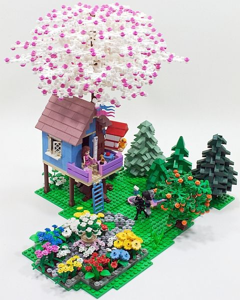 LEGO Friends Diorama by Cale Leiphart http://thebrickblogger.com/2012/08/lego-friends-in-the-neighborhood/
