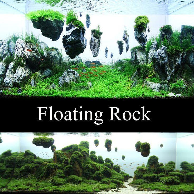 aquarium fish tank floating rock island basking platform decoration Ornaments in Pet Supplies, Fish & Aquarium, Decorations   eBay