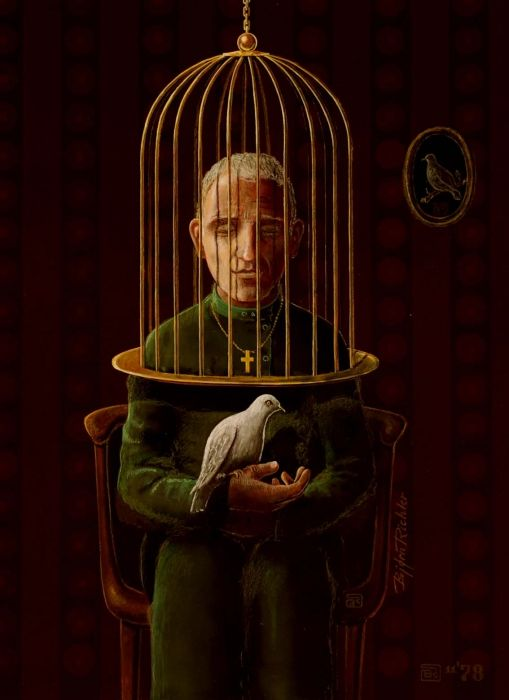 'a Caged Mind Cannot Free the Soul', # 452 / Björn Richter on USEUM, fine art, illustration.