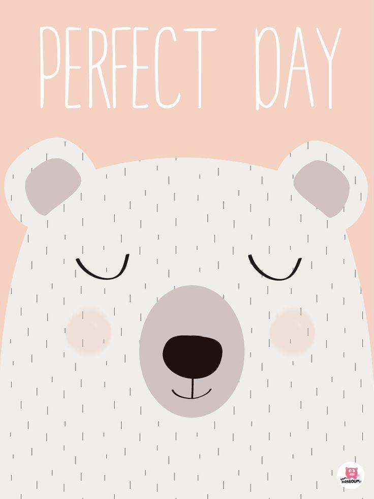 Affiche déco chambre bébé Perfect day