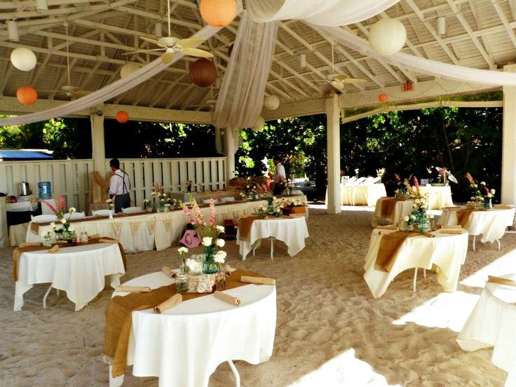 Getting Ready For An Outdoor Wedding Reception At Sandbar