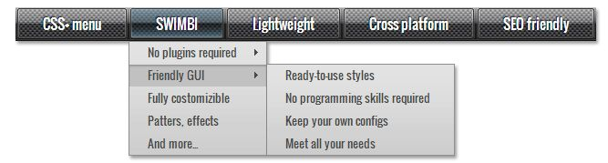black css menu, drop down menu, menu design with pattern