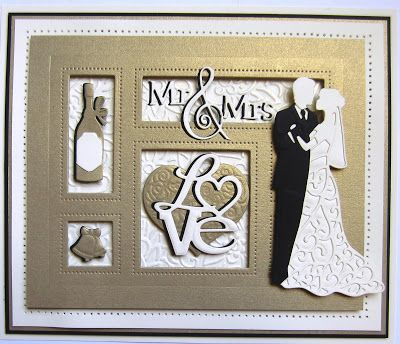 Good morning crafters! How about a Special Occasion Shadow box card to start off the week! I have used milk card, vintage gold card...