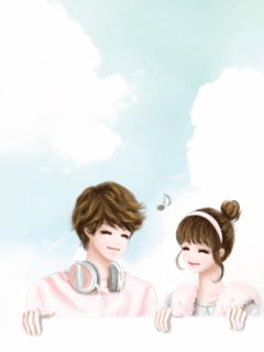 images about Korean cute art girly girly on Pinterest | Korean couple ...